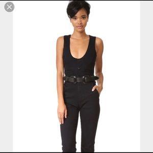 B-low the Belt Rouge Waist Belt in Black & Black